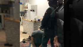 Momento de la detención del supuesto yihadista.