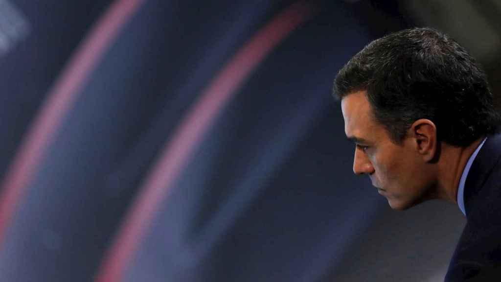 Pedro Sánchez, este miércoles en un acto en Madrid.
