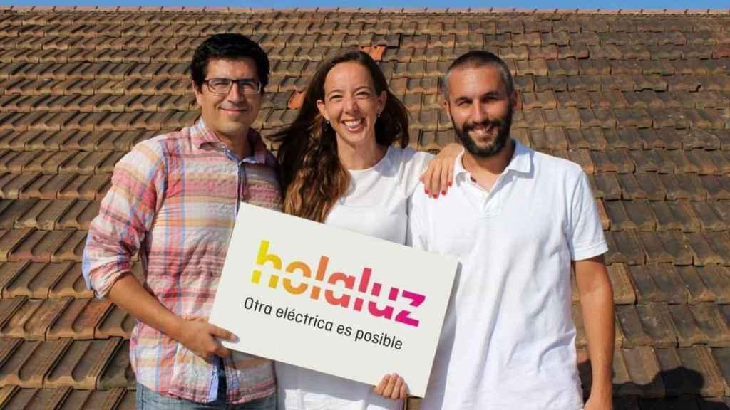 Los fundadores de Holaluz: Ferran Nogué, Carlota Pi y Oriol Vila.