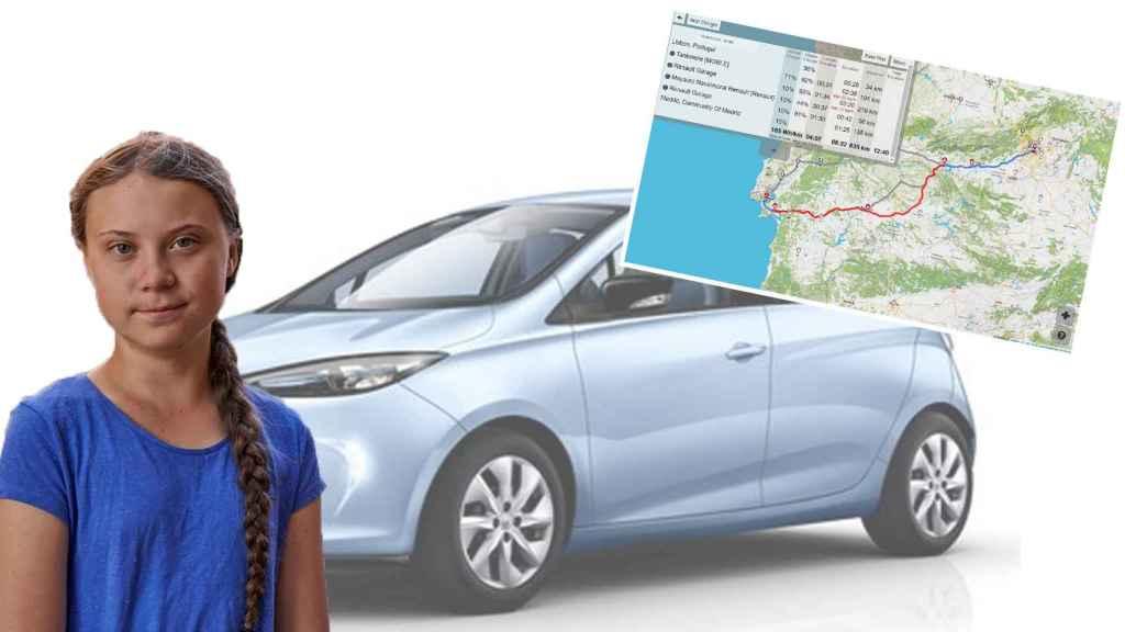 Greta tendrá que viajar desde Lisboa a Madrid en un coche que se adapte a sus convicciones.