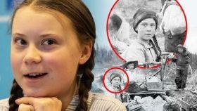 Greta y su 'doble' de principios de siglo