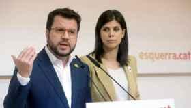 Pere Aragonès y Marta Vilalta
