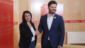 Adriana Lastra y Gabriel Rufián el pasado mes de junio.