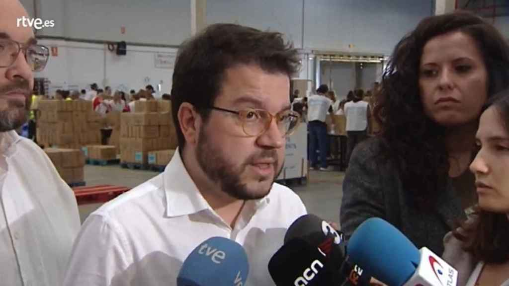 El vicepresidente de la Generalitat, Pere Aragonès, este sábado