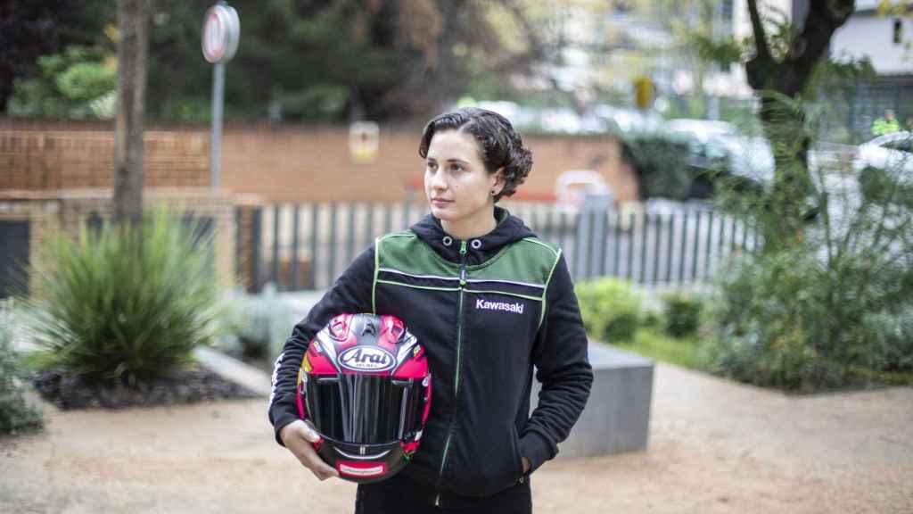 La piloto Ana Carrasco, en un momento de la entrevista con EL ESPAÑOL.