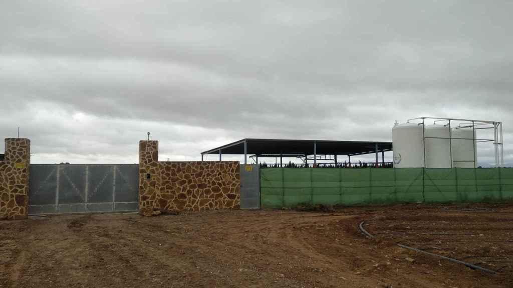 Imagen de las instalaciones de la empresa dedicada a la comercialización de abono ecológico que regenta José María en una finca agrícola situada a las afueras de Roldán.