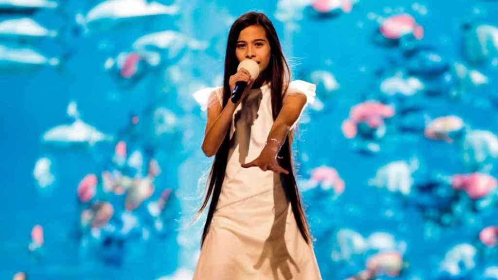 Melani García en 'Eurovisión Junior'