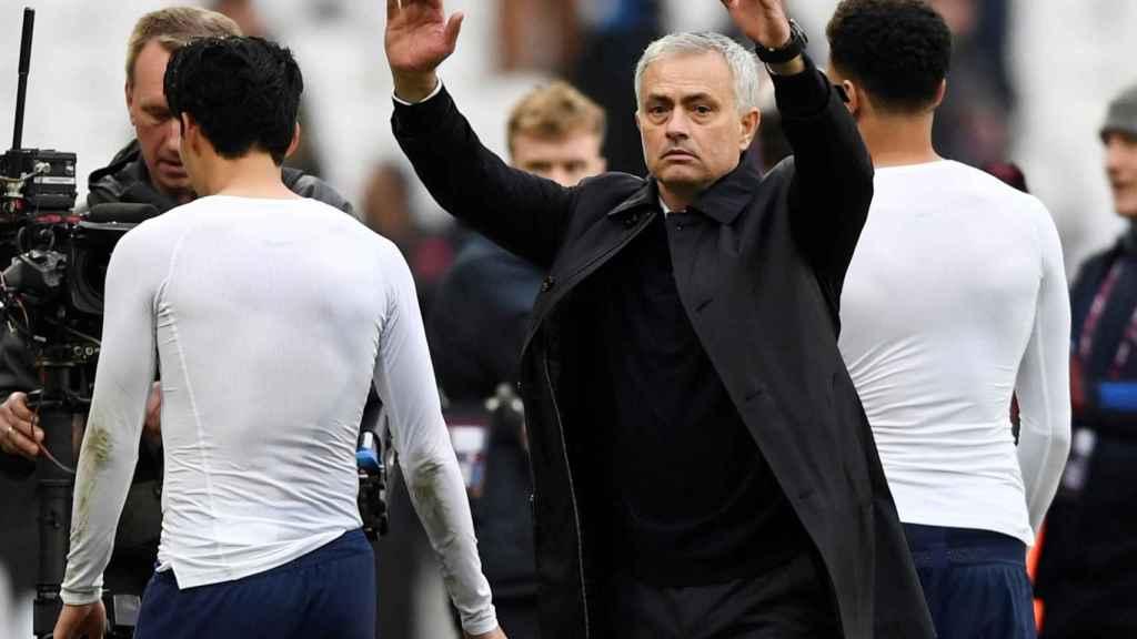 Jose Mourinho celebra la victoria