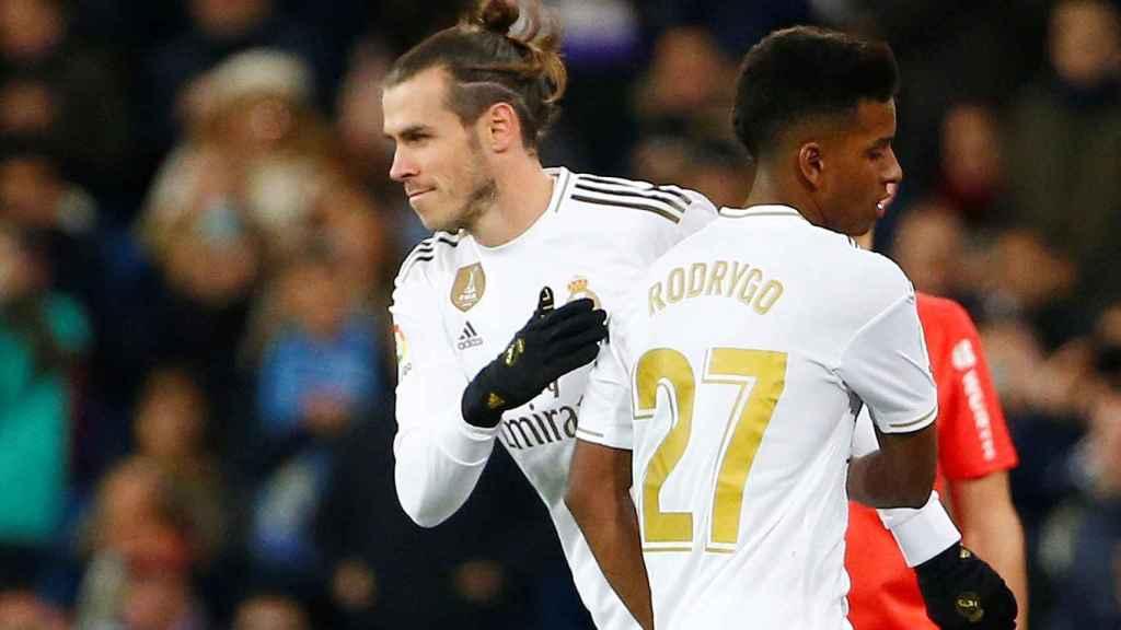 Gareth Bale entra en sustitución de Rodrygo Goes