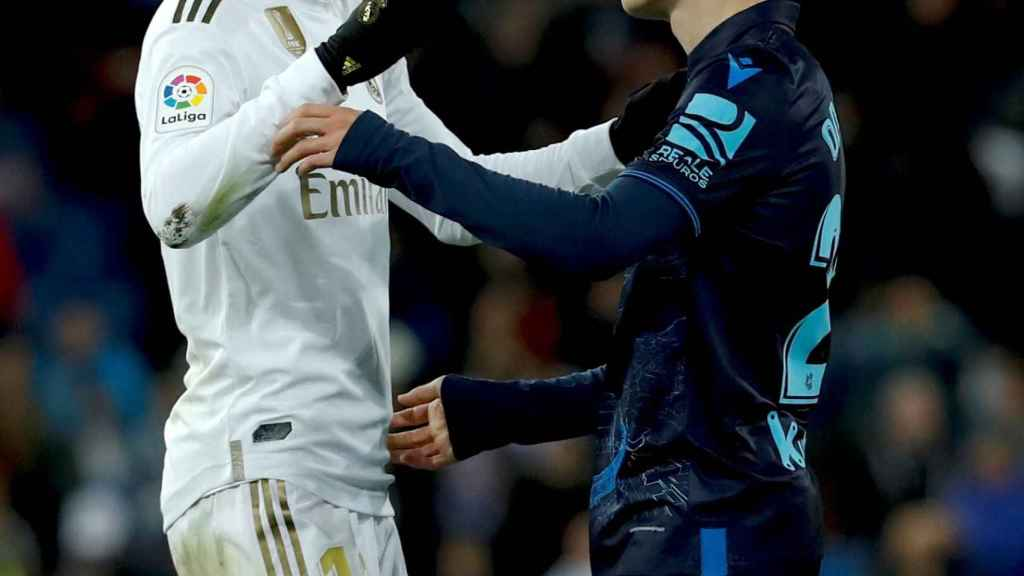 Bale y Odegaard en el Bernabéu