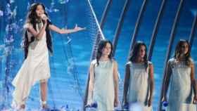 Melani García durante su actuación en Eurovisión Junior 2019.