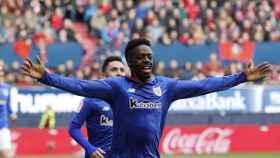 Williams celebra uno de los goles del partido
