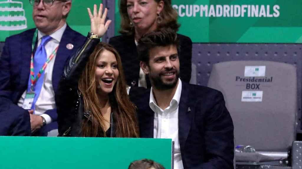 Shakira junto a Gerard Piqué en la Copa Davis