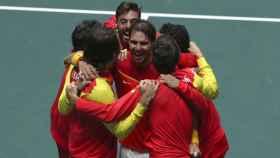 España celebra su sexta Ensaladera de la Copa Davis