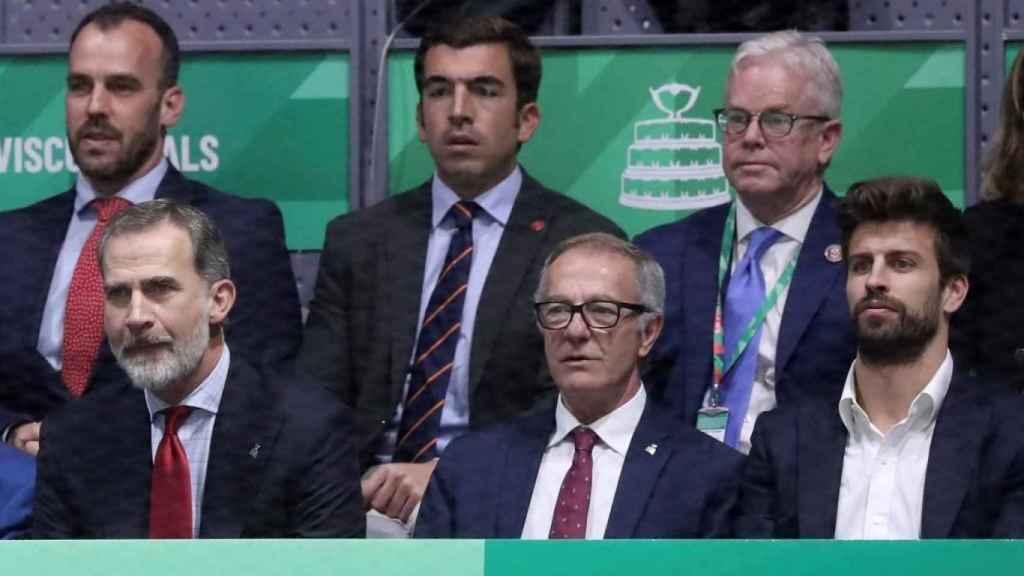 El Rey Felipe VI, Piqué, Ramos, Almeida...: los famosos de la final de la Copa Davis