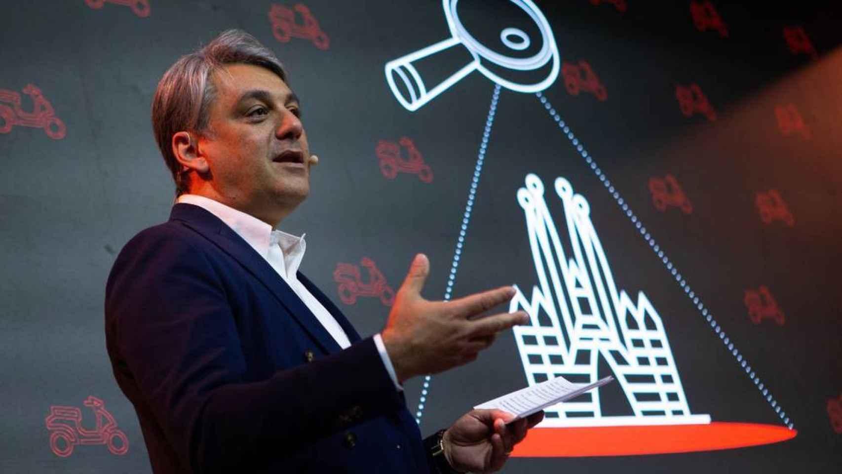 El presidente de Seat, Luca de Meo, en un acto en Barcelona.