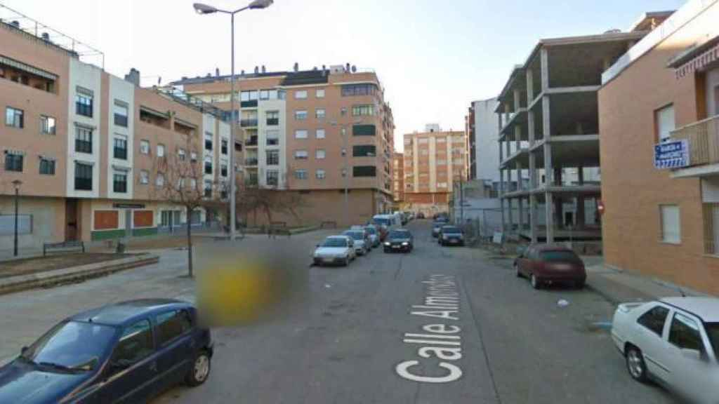 Calle Almendro, donde murieron los dos jóvenes.