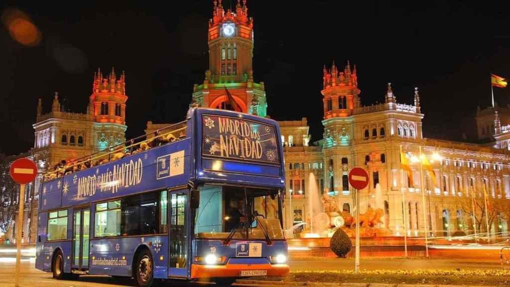 Naviluz, el autobús de la Navidad de Madrid