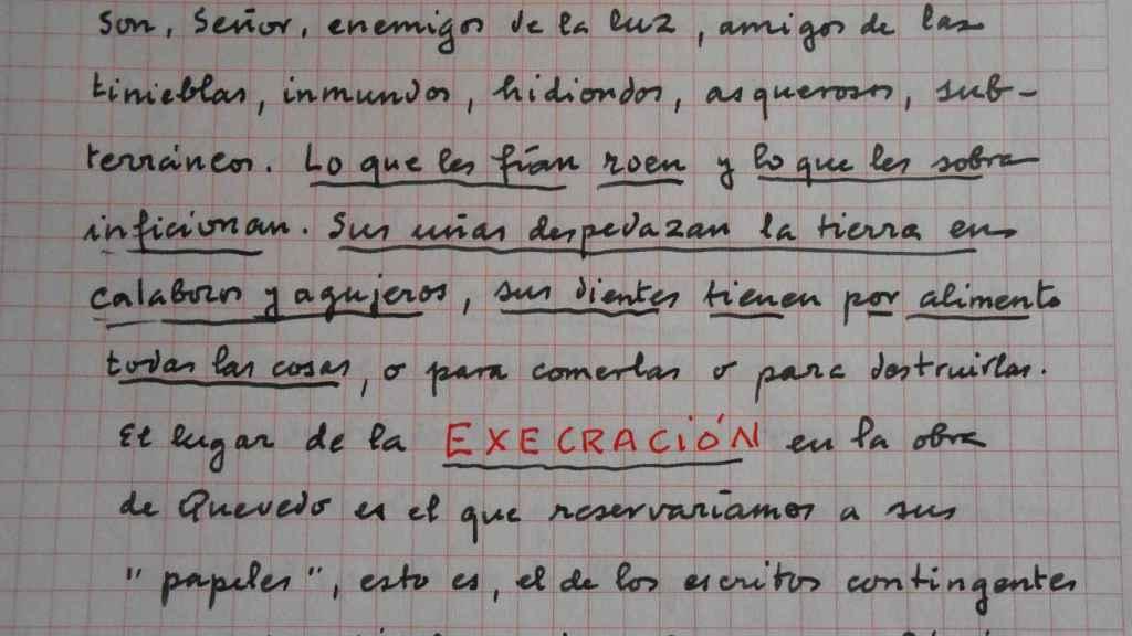 Fragmento original de 'El aire de los libros' (2012).