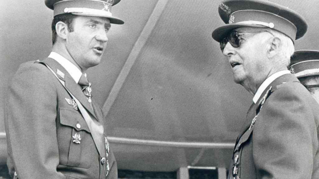 Juan Carlos y Franco.