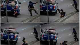 Atropellan a un policía en medio de los incidentes con los hinchas del Flamengo