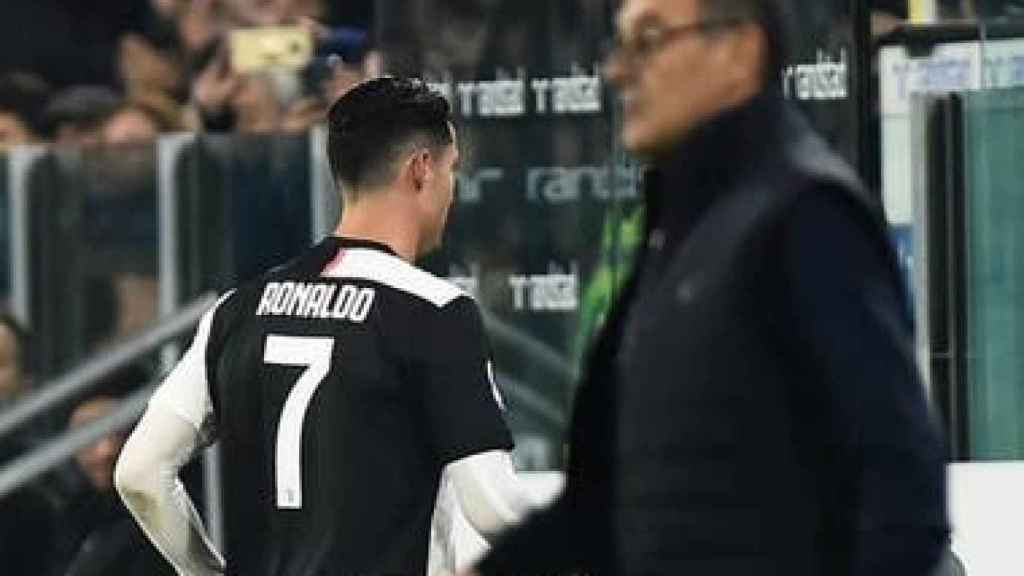 Cristiano Ronaldo y Sarri
