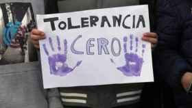 Cartel en una manifestación contra la violencia de género