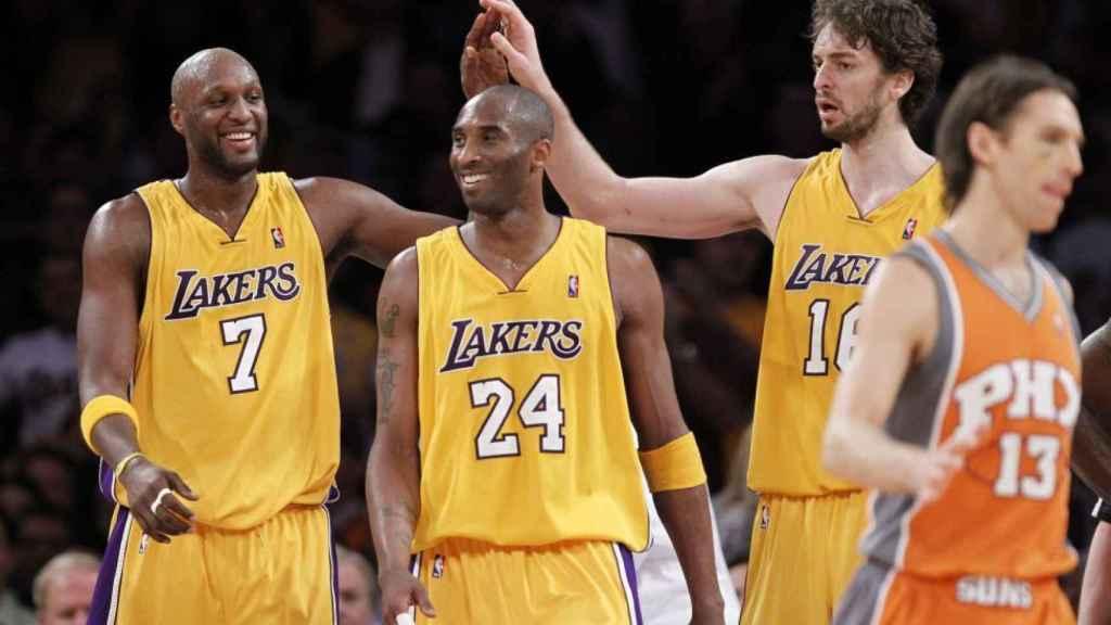 Lamar Odom, Kobe Bryant y Pau Gasol