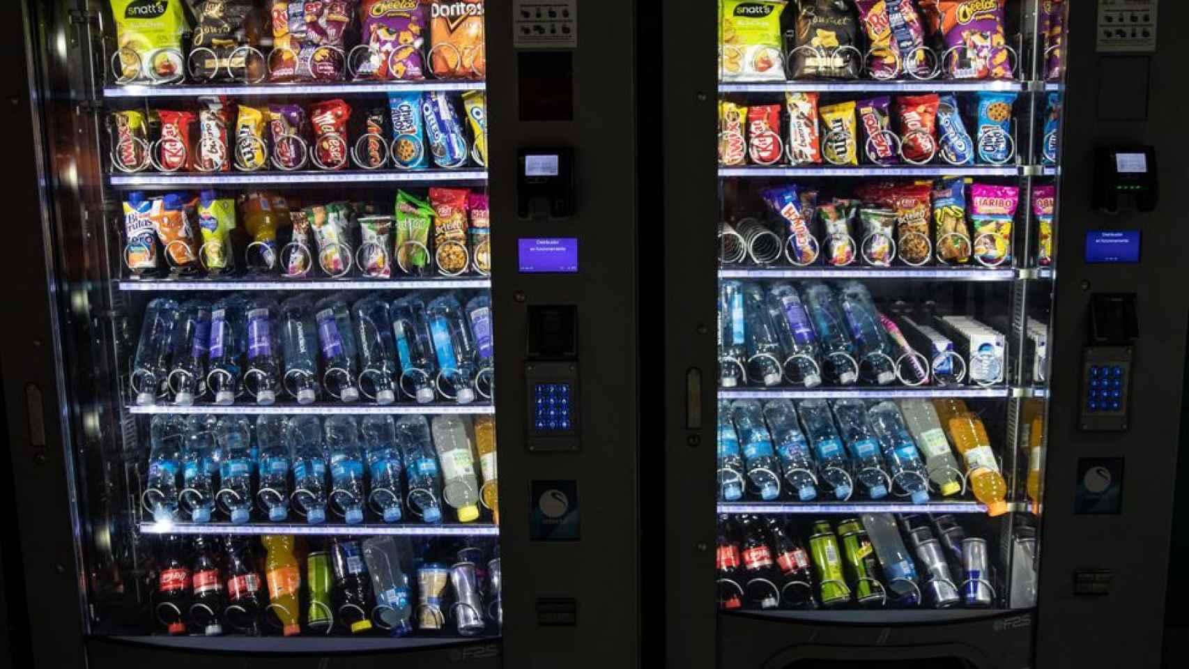 Dos máquinas de 'vending'.