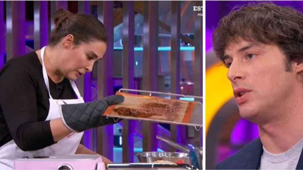 Jordi Cruz riñendo a Vicky Martín Berrocal en 'MasterChef Celebrity'.