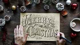 Elegantes tarjetas navideñas hechas a mano (2019)