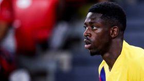 Ousmane Dembélé, con el Barcelona