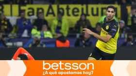 Achraf, en un partido del Borussia Dortmund de la Champions League
