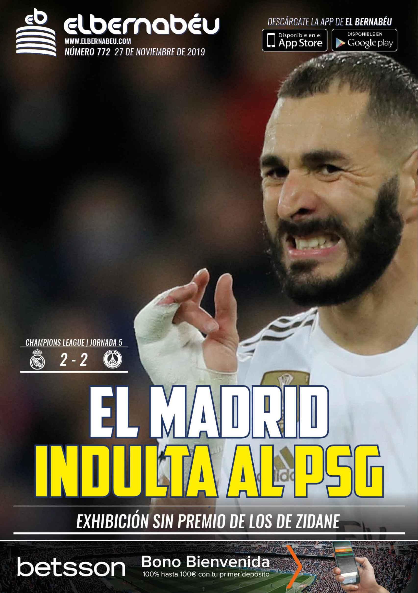 La portada de El Bernabéu (27/11/2019)
