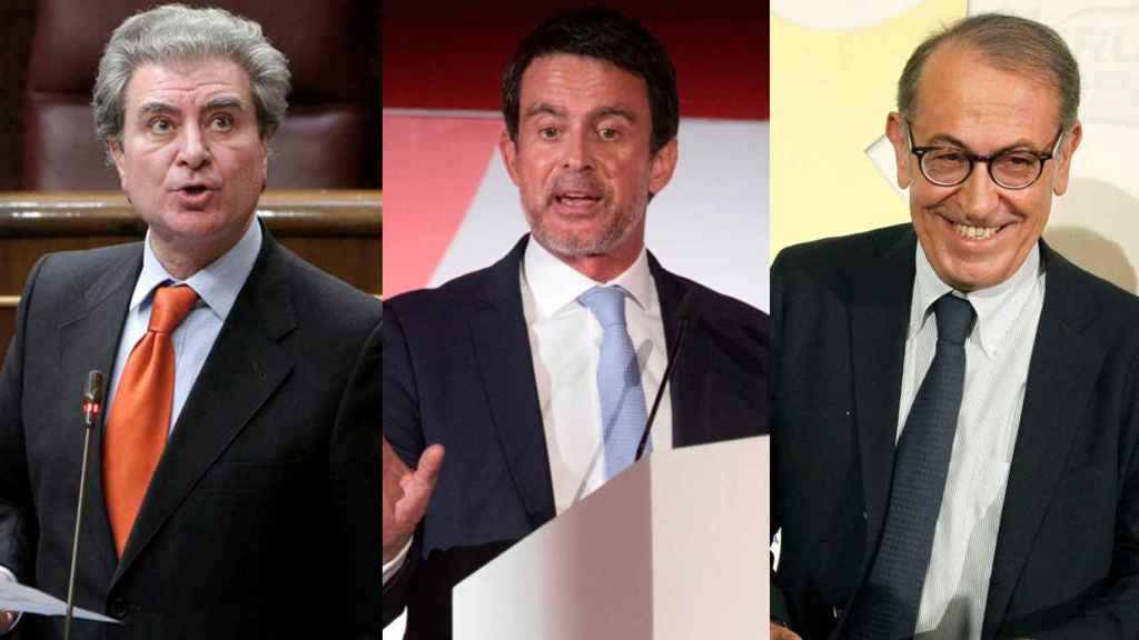 César Antonio Molina, Manuel Valls y Nicolás Redondo Terreros.