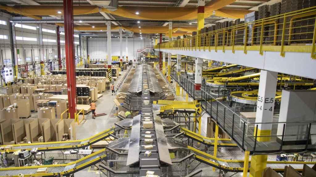Imagen del mayor centro logístico de Amazon en España, ubicado en San Fernando de Henares, Comunidad de Madrid.