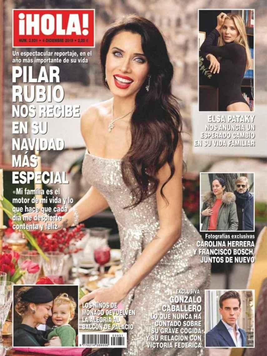 Portada de la revista '¡HOLA!' con la entrevista de Gonzalo Caballero.