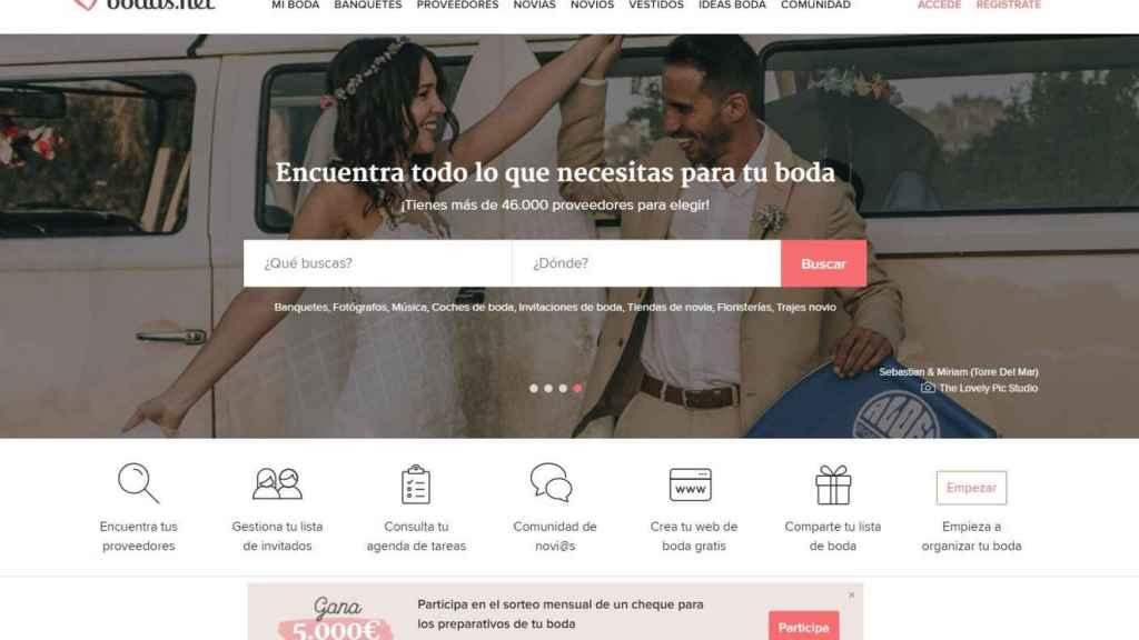 La web Bodas.net también se ha subido al carro del Viernes Negro.
