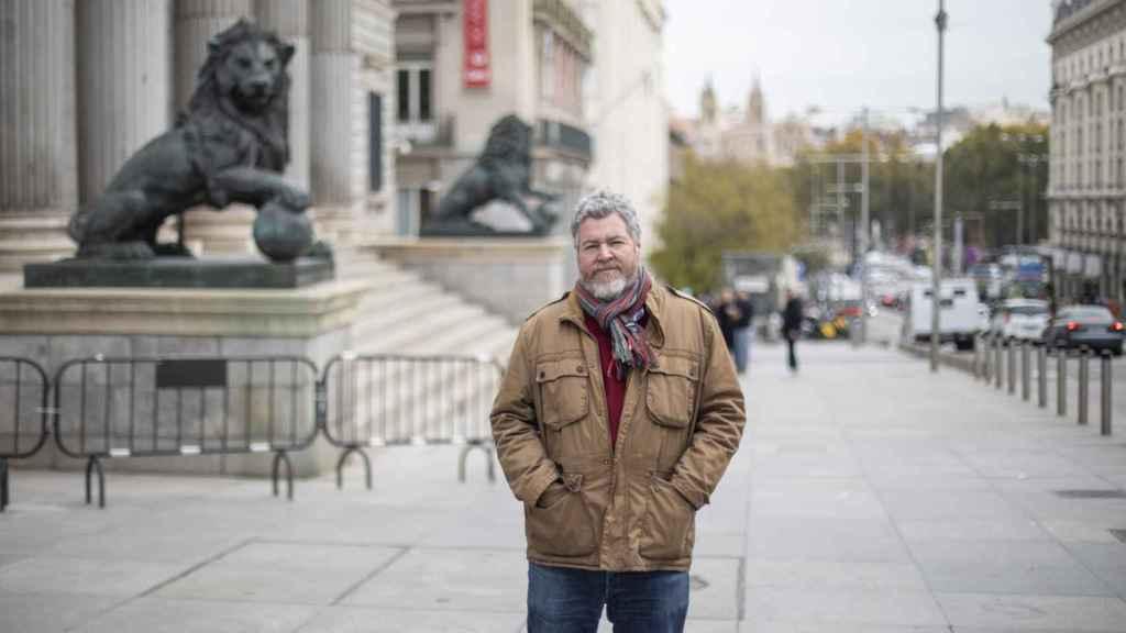 El diputado de Unidad Podemos Juan López de Uralde en el Congreso de los Diputados.