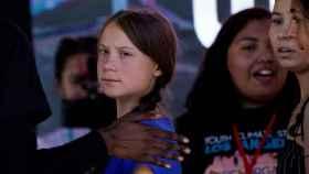 La activista sueca Greta Thunberg este noviembre en una manifestación contra la crisis climática en Los Ángeles, California.