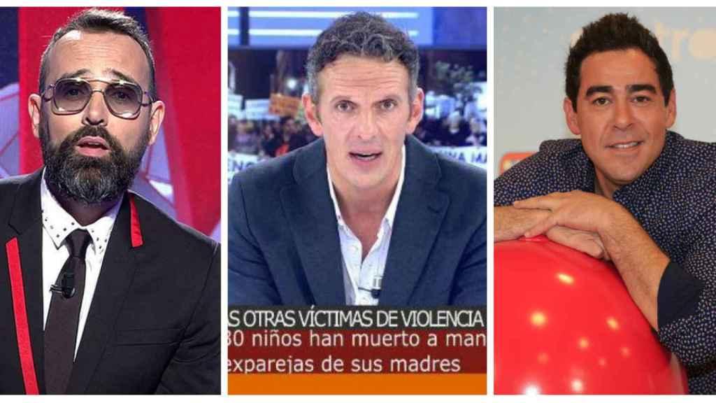 Los tres presentadores que reman en la tarde de Cuatro: Risto, Joaquín y Pablo.