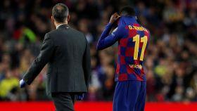 Ousmane Dembélé abandona el campo lesionado