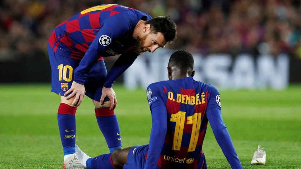 Ousmane Dembélé, lesionado en el Barcelona - Borussia Dortmund de la Champions League
