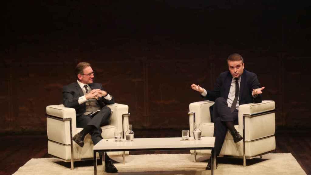 Jaume Giro e Iván Redondo, en el encuentro en la Fundación la Caixa organizado por Corporate Excellence.