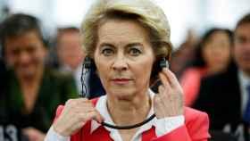 La presidenta Ursula von der Leyen, este miércoles en el pleno de Estrasburgo