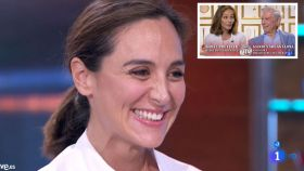 Tamara Falcó junto a su madre Isabel Preysler y Vargas Llosa en montaje JALEOS
