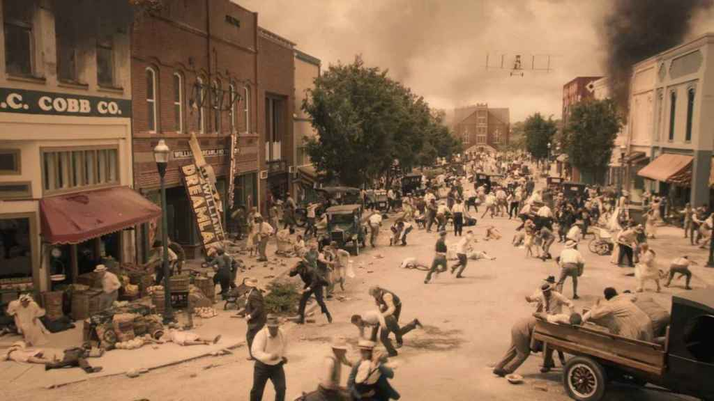 La recreación de la masacre en Watchmen.