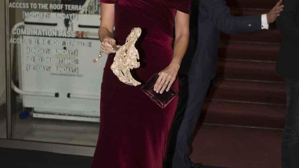 Margarita Vargas lució el collar que se ha subastado en 2016.
