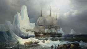 'Erebus en el hielo', un cuadro pintado en 1846 por François Etienne Musin.