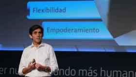 José María Álvarez Pallete, presidente de Telefónica, durante la presentación de la nueva organización de la compañía.